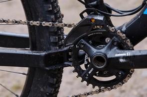SRAM X01 transmission and an e*thirteen chainguide