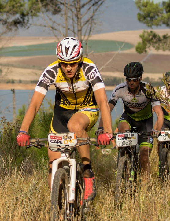 Jaroslav Kulhavy on his way to winning the third stage of the 2015 Absa Cape Epic