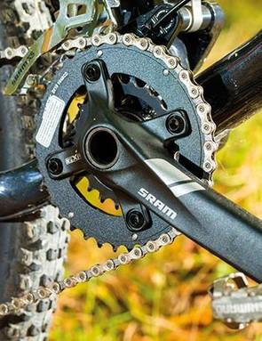 A SRAM double offers a decent gear range