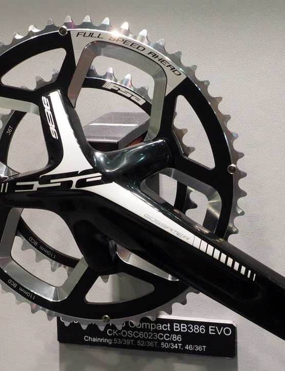 FSA is moving its ABS asymmetrical chainring bolt pattern downstream to the Gossamer level for 2016