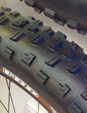Just like on the mountain bike side, the Maxxis FBR is intended primarily for use out back with a paddle-like center tread designed for drive traction