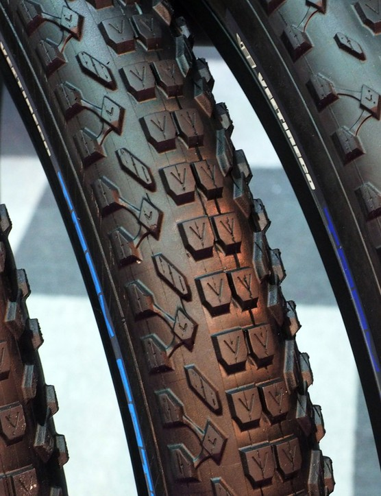 The Vee Tire Trax Fatty gets three 27.5+ sizes for this year: 2.8in, 3.0in, and 3.25in