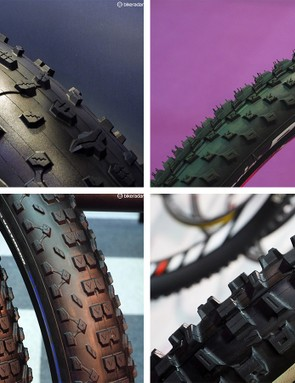 New tires for mountain, fat, road and gravel bikes were on display at this year's Taipei Cycle Show