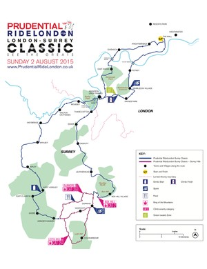The route is slightly different to make up a 200km course