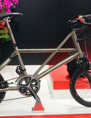 Apparently there's a market for a 3/2.5 titanium folding bike with 18in wheels