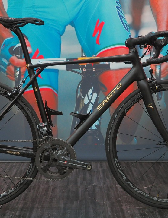 Italian builder Sarto will make just 25 of these limited edition bikes. The carbon frame is dressed up with 18k gold and crocodile leather - and it's astronomically expensive