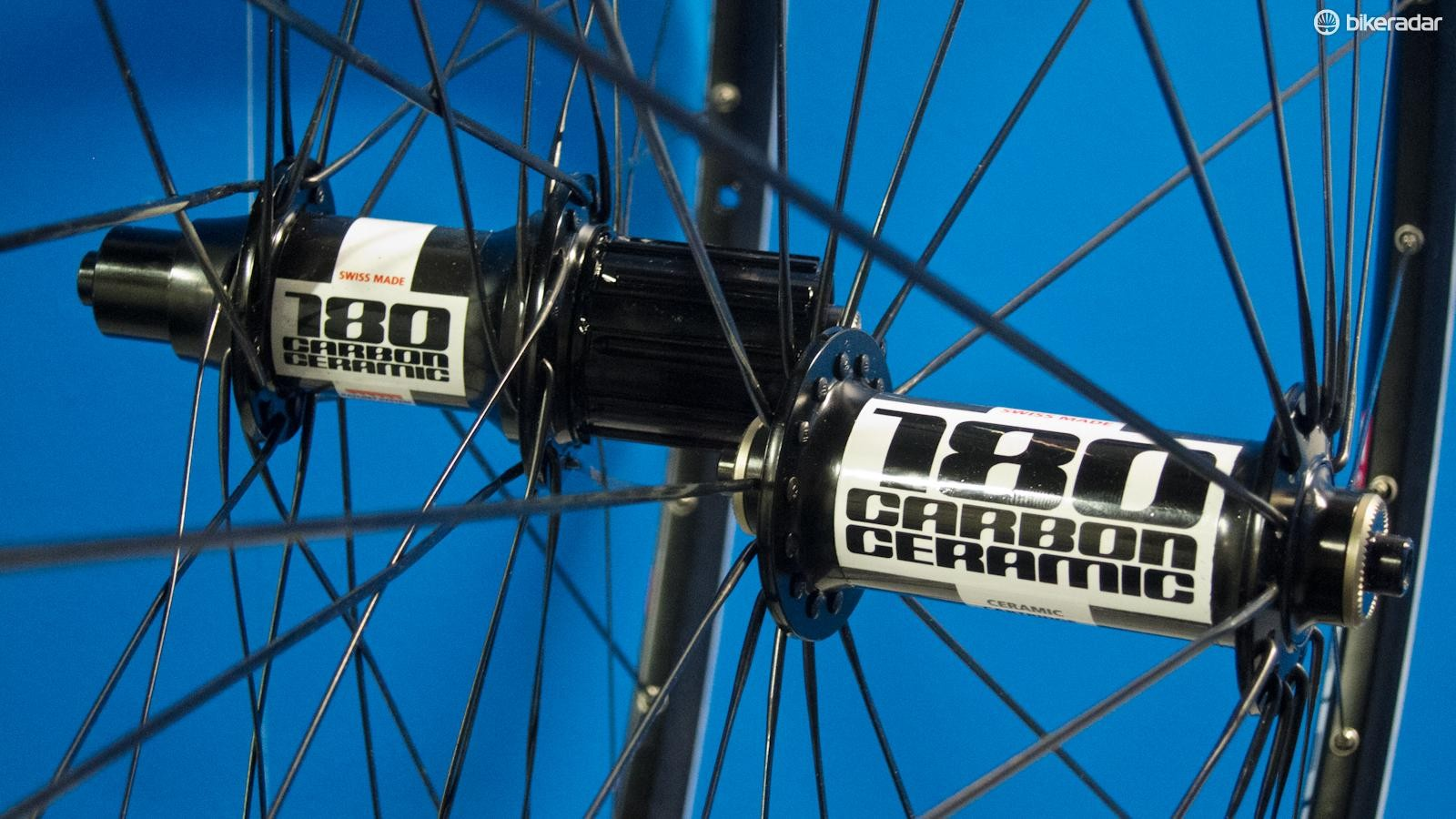 DT Swiss 180 Carbon Ceramic hubs