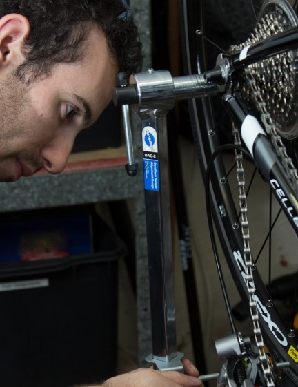 A derailleur hanger gauge is a great tool to own, but it's a sign!
