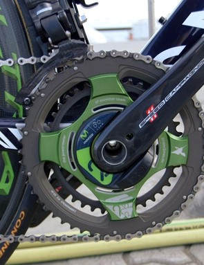 The Power2Max power meter is built around a Campagnolo Super Record crankset