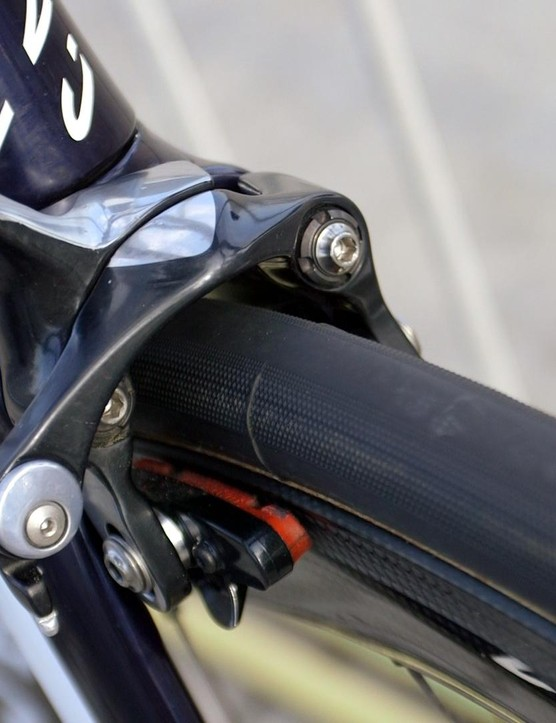 Shimano direct-mount brakes fit the German frame