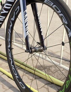 Campagnolo's Bora Ultra carbon tubular wheels are a favourite of Campag-sponsored riders