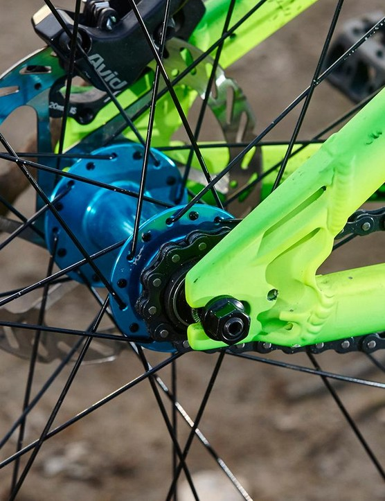 Though NS provides a derailleur hanger, there are no chain tugs supplied with the bike