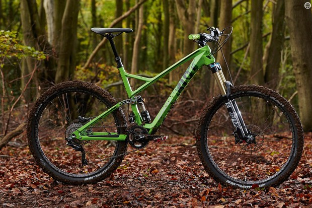 The LT gets a bigger fork and wider bar than the regular Riot, plus a dropper post