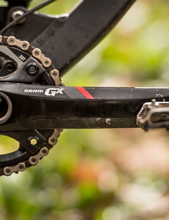 SRAM GX 1x cranks will come in two alloy flavours – the GX1400, a 680g part that makes use of SRAM's Open Core Technology or a cheaper, simpler, and slightly more portly GX1000 version at 720g