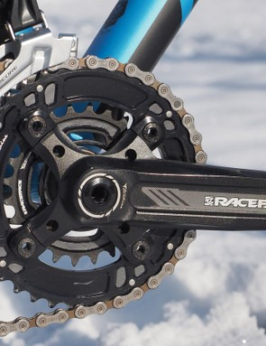 The two-chainring drivetrain provides a wider range of gearing than any 1x setup. Shift performance from the Race Face rings was very good