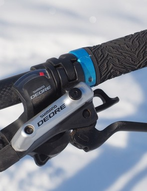 The Shimano Deore controls aren't as light as higher-end options but they perform (and feel) the same