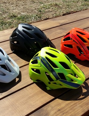 Specialized has a new enduro/trail helmet, called the Ambush. The visor has a wide range of adjustment, and the rear of the lid extends low behind the head. A higher density foam protects the side of the head, while ventilation and fit have been extensively worked upon