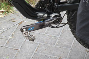 Not listed on the Stages site yet, it looks like owners of the latest Shimano XTR M9000 cranks won't have to wait long for the crank-based power meters to arrive. A number of EWS racers were seen with the cranks, which help racers monitor their performance and power output throughout the race
