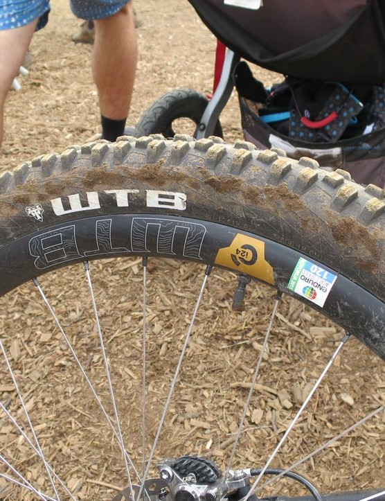 A number of riders were seen riding on the recently announced WTB Ci24 carbon rims, their 31mm deep body being somewhat distinctive. External width is 30mm and internally it's 24mm, as well as being tubeless ready, of course. Fancy 4D spoke drilling should mean less snapped or binded spokes for easier maintenance