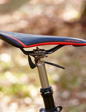 The KS Supernatural dropper post is a welcome addition to a bike that's naturally at home on gravity-powered routes