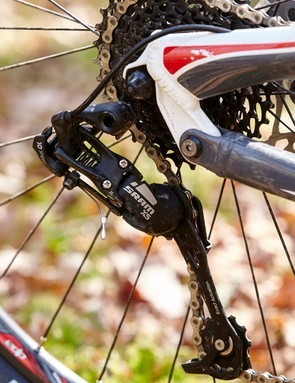 SRAM's X5 group shifts competently but hasn't always held up well long-term