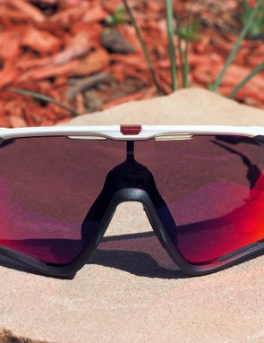 Althought the physical width isn't much bigger than Oakley's Radarlock XL, the new Jawbreaker looks positively enormous with the additional coverage up top and the full-framed design