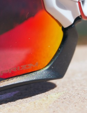 Oakley's new Prizm lens tints are very impressive. On the road, it's slightly easier to read surface textures and markings than usual but it's a dramatic difference off-road with the Trail version