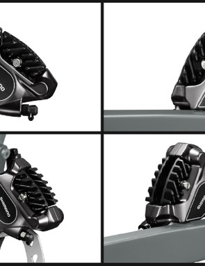 Shimano Ultegra RS805 caliper looks quite similar to the 105 version; no matching lever has been announced yet