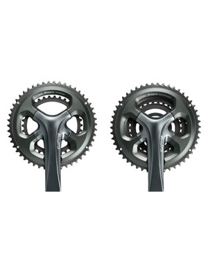 Shimano Tiagra 4700 cranks will be available in double and triple configurations, no word yet on whether the triple is an entirely different crankset