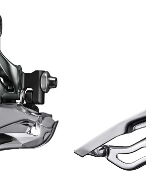 The front derailleurs are re-worked for lighter shift effort. The derailleur on the right is for a triple crankset