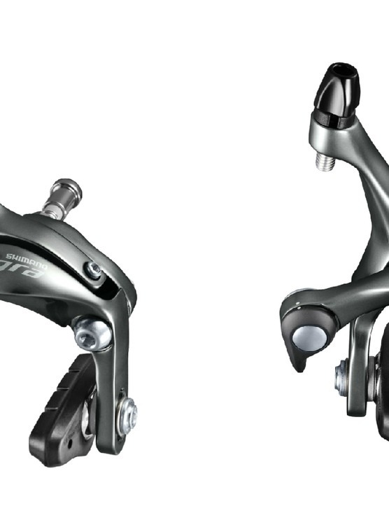The new rim brake calipers claim a 30 percent increase in braking power over previous Tiagra models