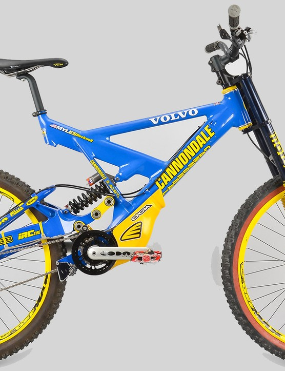 Cannondale's Fulcrum DH was positively radical when it was raced on the World Cup circuit 17 years ago