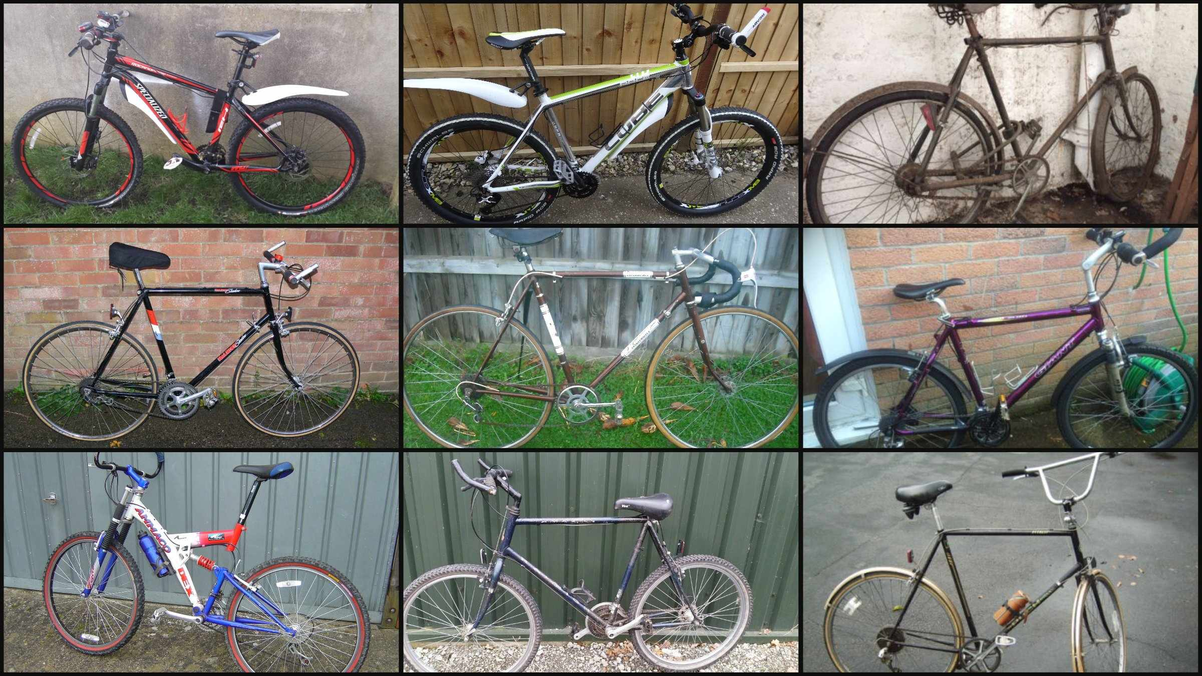 Nine of the 13 cycling monstrosities that our community have spotted on eBay