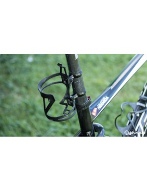 Like so many other riders at the Absa Cape Epic, Hermida was using a rear cage mount to carry an extra bottle off the seatpost