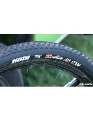 Rubber durability is key at the Epic and so Hermida was using the Maxxis Ikon in 2.2in width. These triple-compound tyres are tubeless-ready and feature additional puncture resistance
