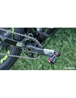A 32t chainring was Hermida's choice for the Absa Cape Epic