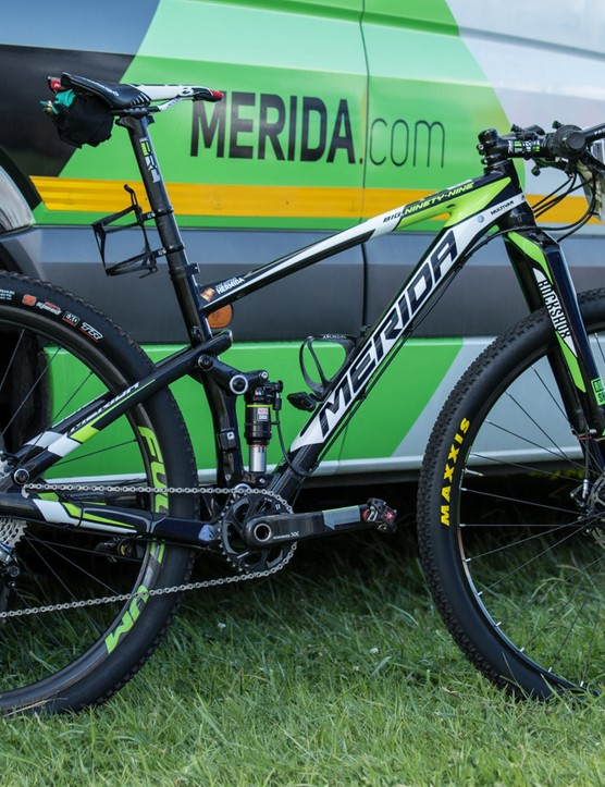 José Antonio Hermida rode a Merida Ninety-Nine 9.Team at the 2015 Absa Cape Epic