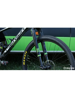 Our review of the RockShox RS-1 wasn't so glowing, but the top four men's teams at the Epic were all using this fork - proving it can take a beating