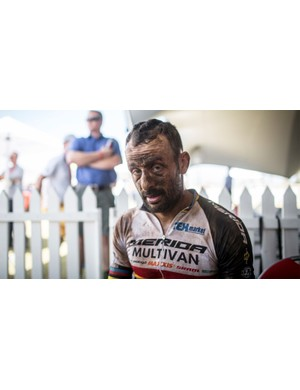 Hermida looking rather wrecked following stage four of the 2015 Absa Cape Epic
