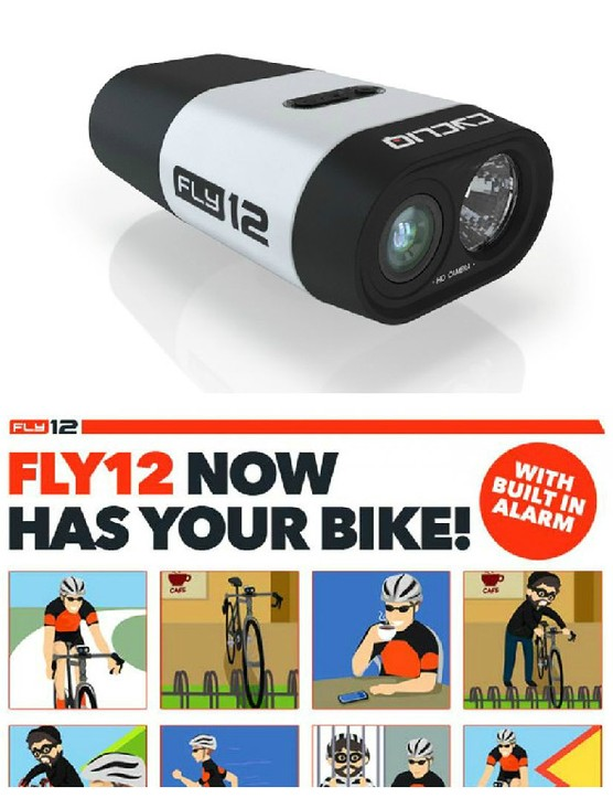 The Fly12 has an integrated bike alarm via the mobile app