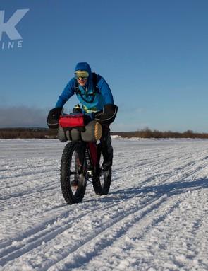 Tom Marvin riding the Sarma Shaman in the Rovaniemi 150
