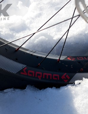 The fat tyres make light work of snow