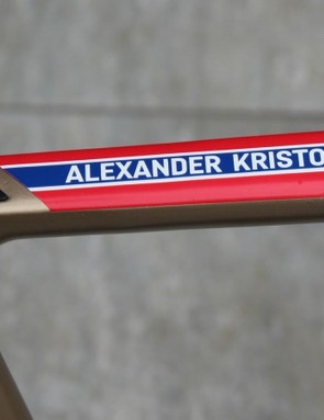 Kristoff and the rest of Katusha will be on Canyon's Ultimate CF SLX next weekend for Paris-Roubaix, but Kristoff deems the cobbles of Flanders mild enough to tackle on the aero bike