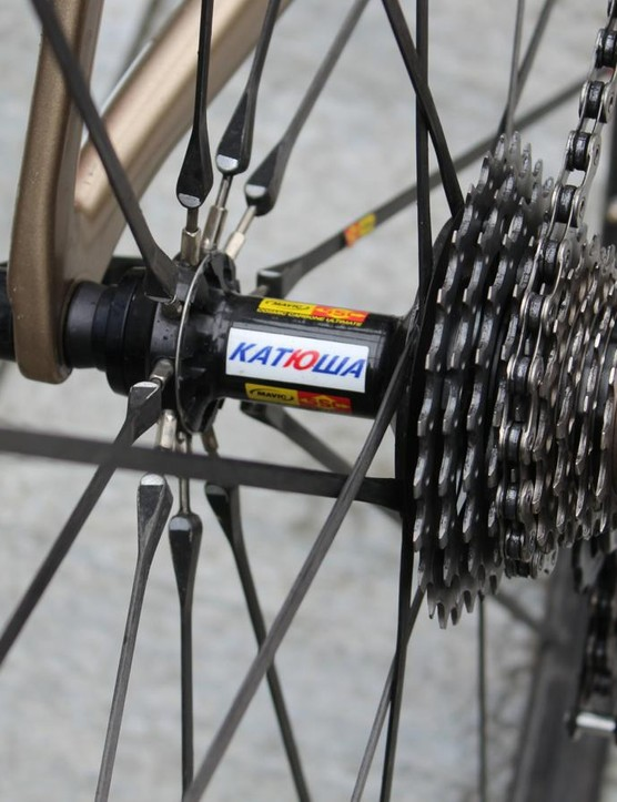 Mavic Cosmic Carbones are trued at the hub
