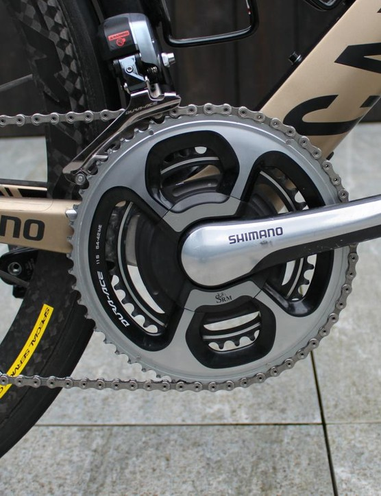 175mm cranks on Kristoff's SRM