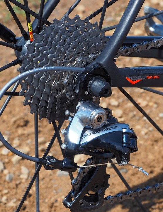 The 11-28T cassette provides ample range for both going up and down