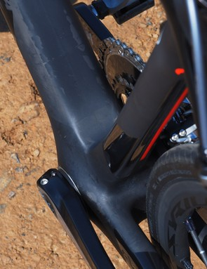 Wilier Triestina makes full use of the extra real estate provided by the BB386EVO bottom bracket shell
