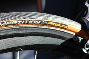 Contintenal Competition tubulars are always a popular pro choice, and the 25mm width is an increasingly popular width year round