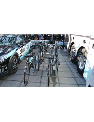 Etixx-Quick Step riders used three different Specialized bikes: four Tarmacs, three Venges and one Roubaix