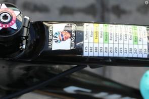 A memorial to a fallen friend: Belgian pro Wouter Weylandt died at the 2011 Giro d'Italia in a high-speed crash
